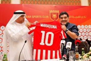 ماذا قال مارادونا في أول مؤتمر صحفي له مع الفجيرة