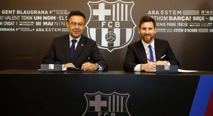 رسمياً : حكاية ميسي مستمرة مع برشلونة