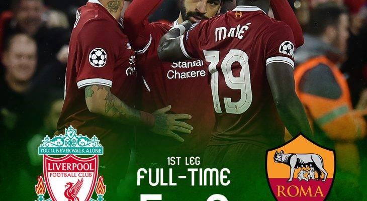 ليفربول يتغلب على روما وصلاح يكسر المزيد من الأرقام