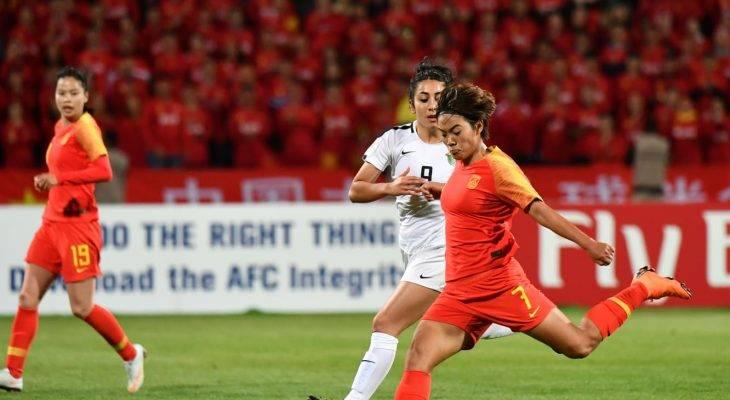 الصين تفوز على الأردن ب 8 أهداف لهدف في الجولة الأخيرة للمجموعة A من كأس آسيا للسيدات 2018