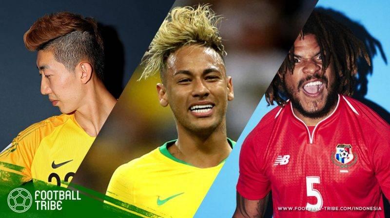 pemain yang tampil menonjol dengan gaya rambut
