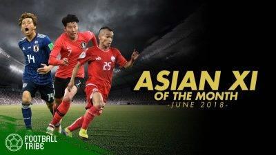 أفضل فريق مكون من لاعبي آسيا : يونيو 2018