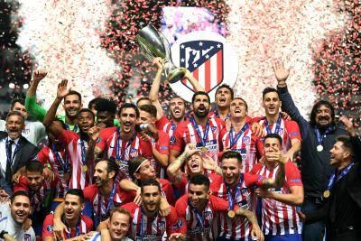 أتلتيكو يتوج بكأس السوبر الأوروبي ويهزم ريال مدريد برباعية