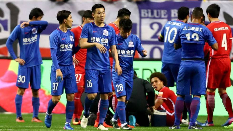Shanghai Shenhua's Qin Sheng banned for six months after stamping Axel Witsel