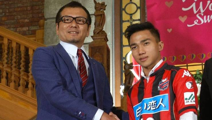 Chanathip receives compliment from Consadole Sapporo boss following debut