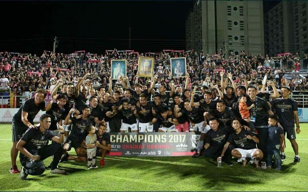 Chainat Hornbill FC won 2017 Thai League 2 M-150 Championship title