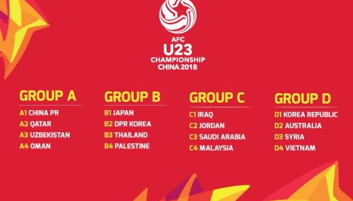 Vietnam to face South Korea, Thailand to face Japan in 2018 AFC U23 Championship