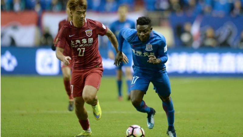 Obafemi Martins goal gives Shenhua an advantage over SIPG in Chinese FA Cup final