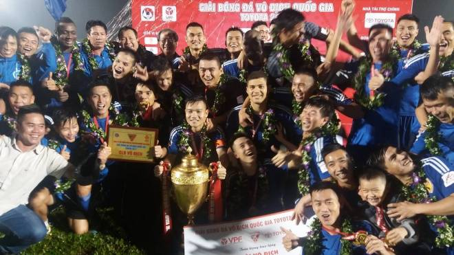 Quang Nam win V-League title for the first time in history