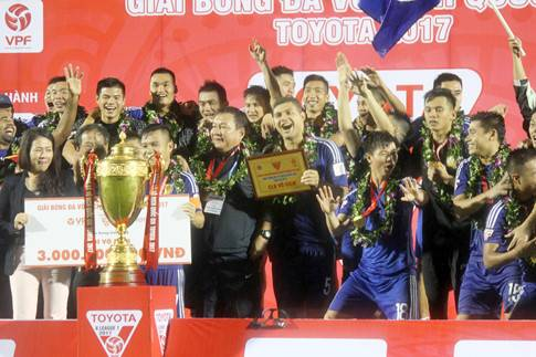 V.League winners Quang Nam FC could be denied entry to 2018 AFC Champions League