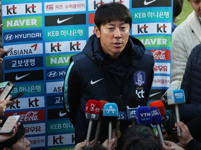 South Korea national team head coach Shin Tae-yong