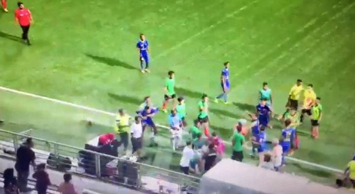 Mass brawl breaks out at Singapore's National Football League Division 1 match