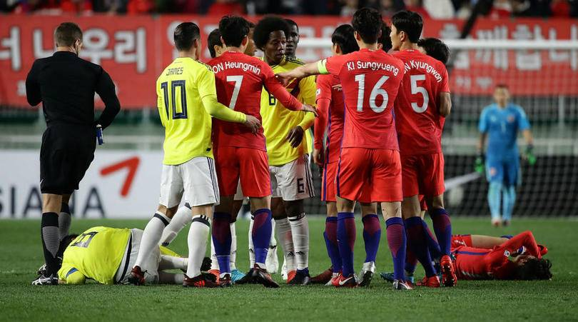 Colombian forward apologises over racist gesture in South Korea