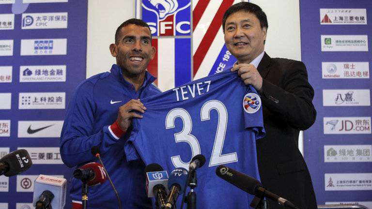 Shanghai Shenhua allow Carlos Tevez to decide his future