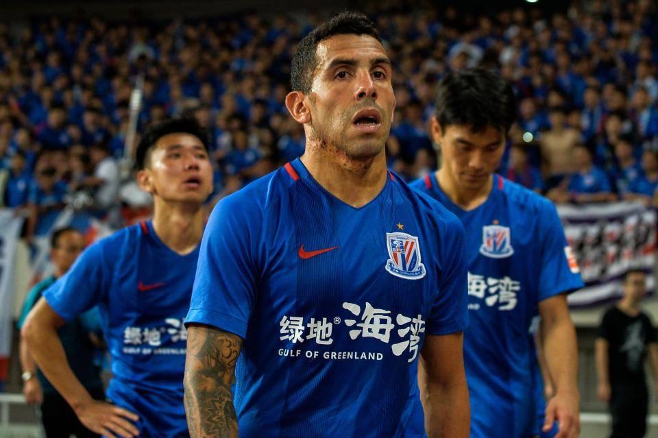 Carlos Tevez sheds 6 kilograms amid Shanghai's fans criticism