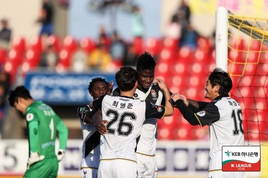 Newly promoted Gyeongnam go top