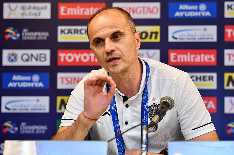 Buriram United coachBozidar Bandovic thanks his team for not giving up until the last minute