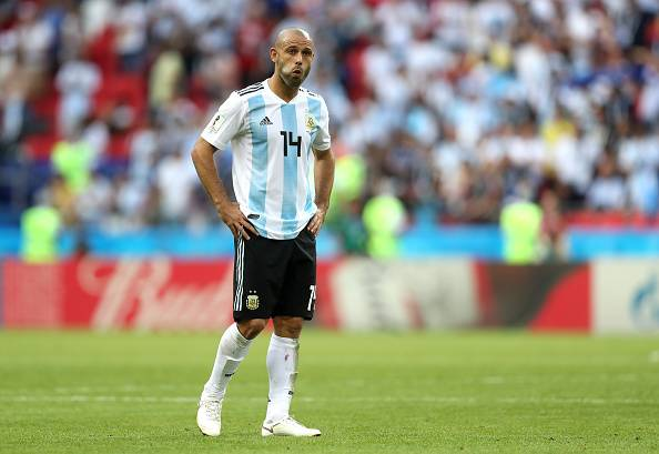 Hebei China Fortune's Javier Mascherano announces retirement from international football