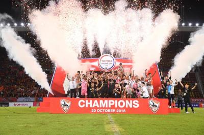 Chiangrai Lift League Cup After Victory Over Bangkok Glass