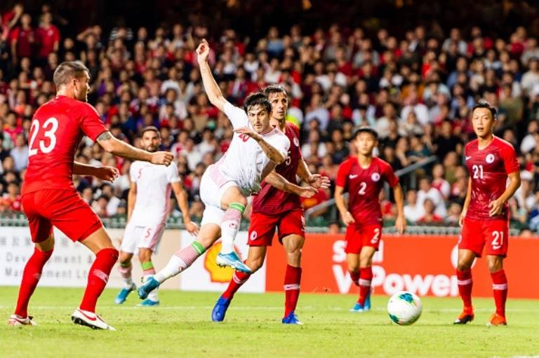 Iran's away win against Hong Kong in 2020 World cup qualification