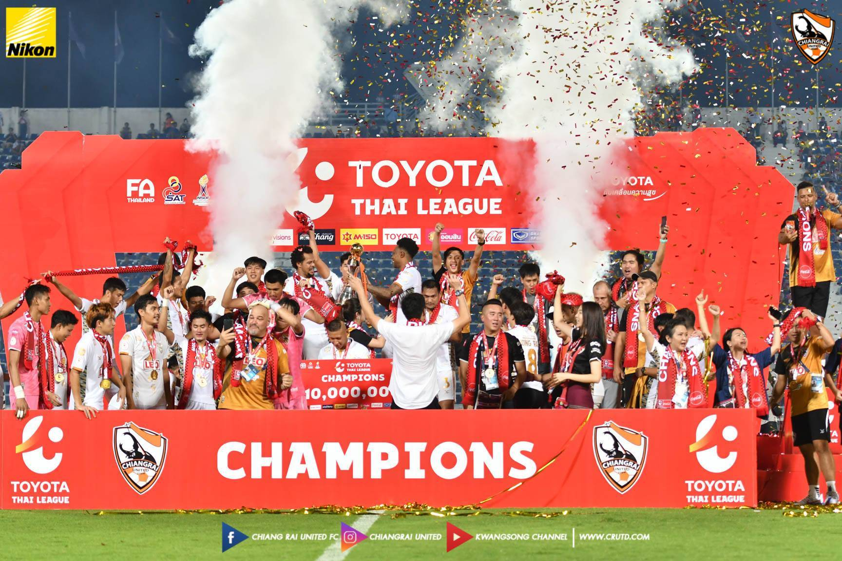 Chiangrai Crowned Thai League Champions