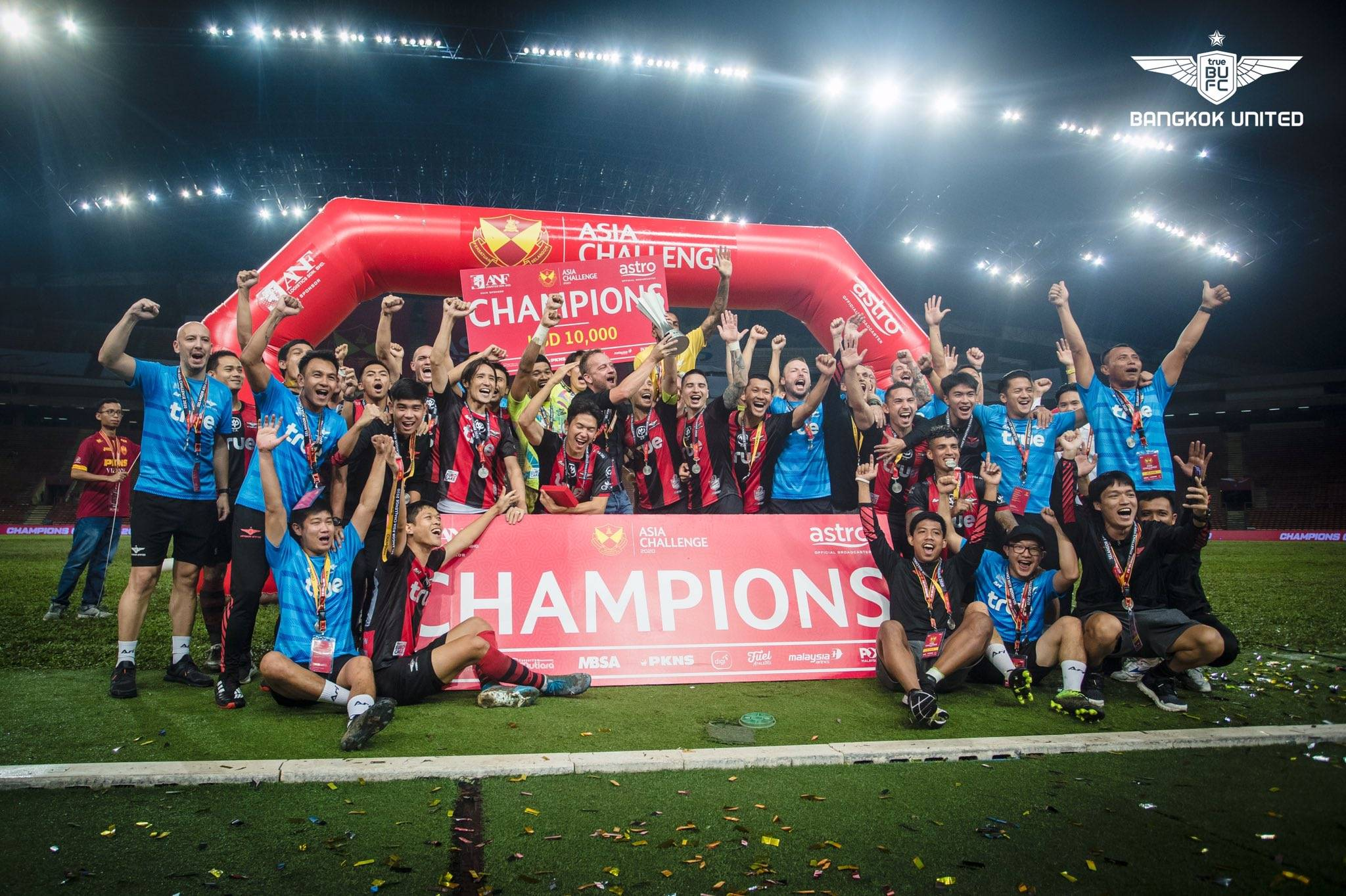 True Bangkok United Wins the 2020 Selangor Asia Challenge at a Waterlogged Shah Alam