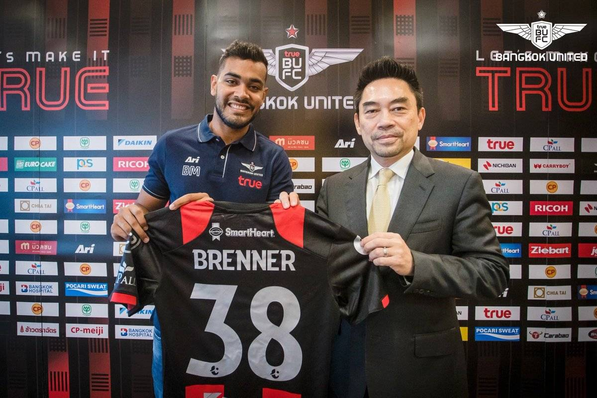 Bangkok United Sign New Striker Brenner Marlos
