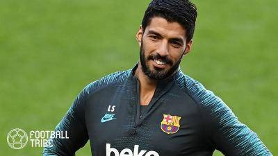 Luis Suarez bids Barca 'Adios!' as he terminates his contract, allowing Atletico Madrid to make a move for him