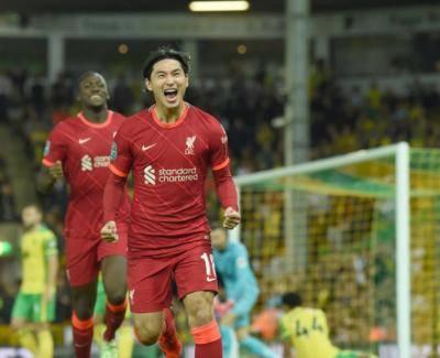 Super Takumi Scores Twice as Liverpool Extend Norwich's Dismal Start to the Season