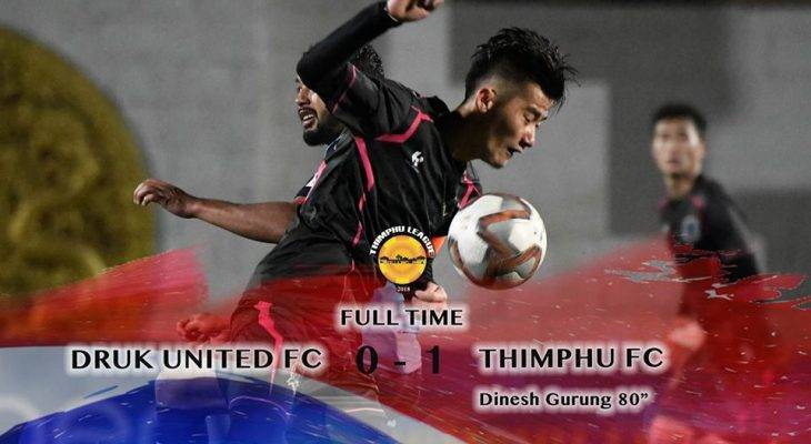 Thimpu FC level on points with city rivals Thimpu City FC after 1-0 win over Druk United