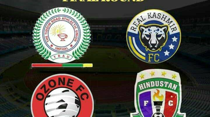 Real Kashmir FC, TRAU FC,Ozone FC and Hindustan FC make it to the Final Round of I League 2nd Division