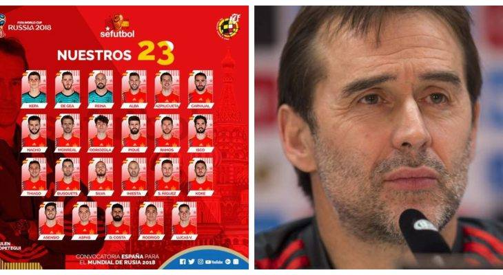 """La Roja"" squad unveiled by Julen Lopetegui for World Cup 2018"