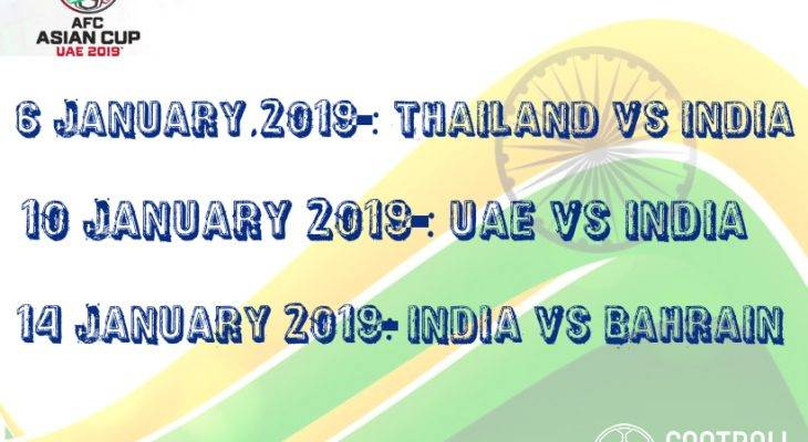 AFC ASIAN CUP 2019: India to face Thailand in their opening game