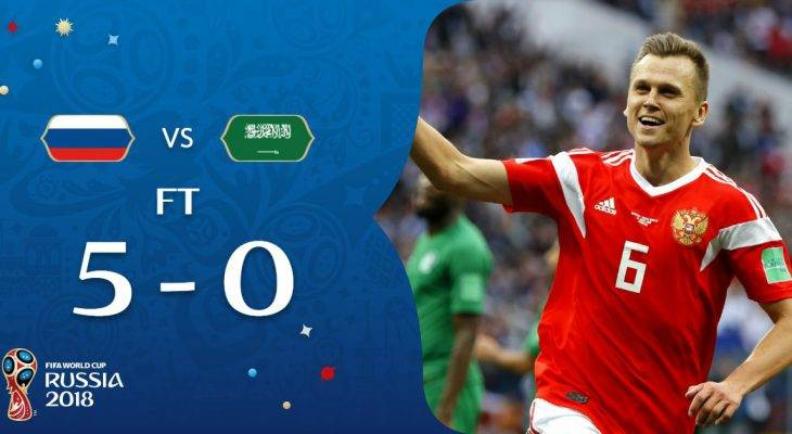 FIFA WORLD CUP 2018: RUSSIA VS SAUDI ARABIA 5 KEY STATS FROM THE 5-0 WIN