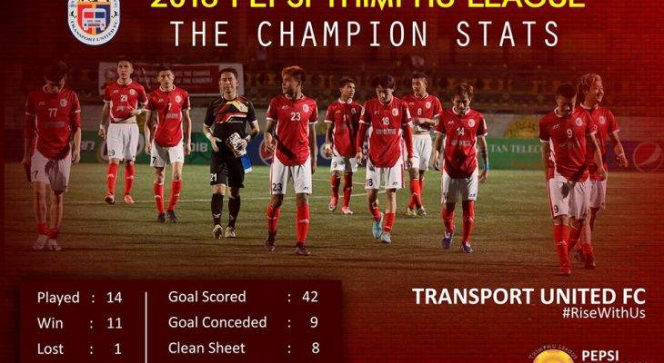 Transport United wins the PEPSI THIMPU LEAGUE 2018 beating Thimpu City FC 1-0