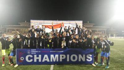 INDIA U15 GIRLS ARE CROWNED CHAMPIONS IN SAFF U15 WOMEN'S CHAMPIONSHIP