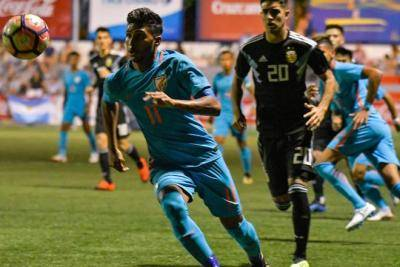 Indian U-20 team put up an inspired performance to defeat Argentina in Cotif Cup 2018