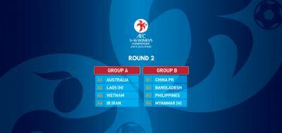The eight teams in the AFC U-16 Women's Championship 2019 Qualifiers Round 2 have identified their group opponents