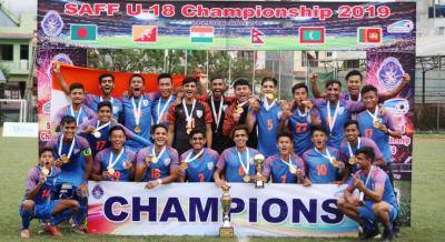 India lift maiden SAFF U-18 Championship ; defeats Bangladesh 2-1 in the Final