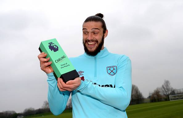 Andy Carroll, striker West Ham United.