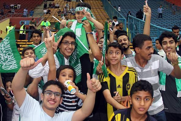 Arab Saudi melarang suporter wanita untuk datang ke stadion.