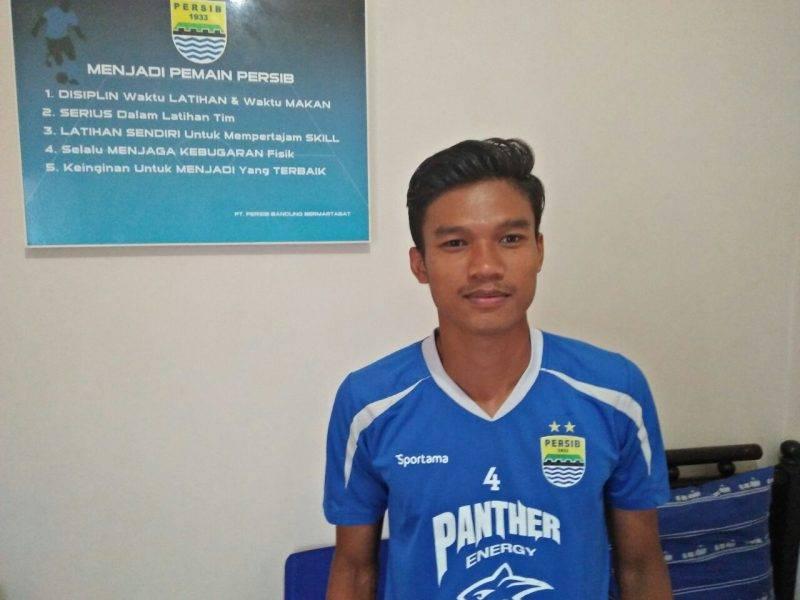 Sugianto Pangkali, pemain muda Persib Bandung.
