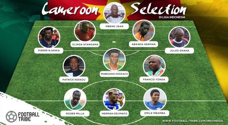 Best XI Pemain Kamerun di Liga Indonesia