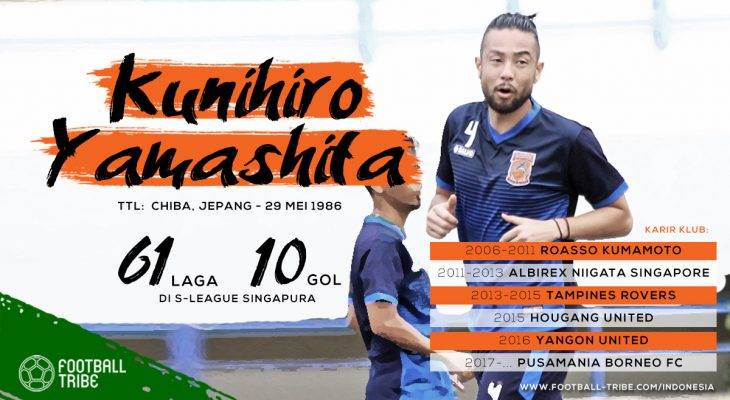 Mengenal Lebih Akrab Kunihiro Yamashita, Bek Tangguh Pusamania Borneo FC