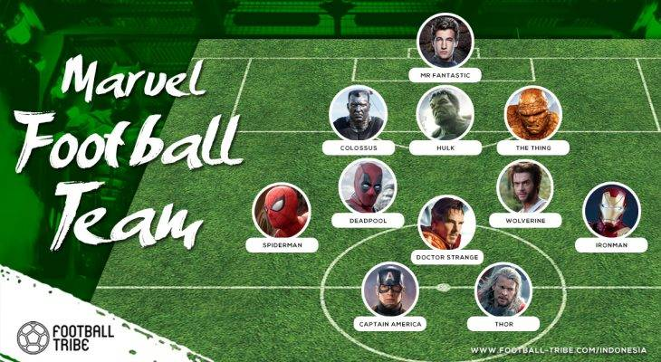 Sebuah Tim Sepak Bola dari Marvel