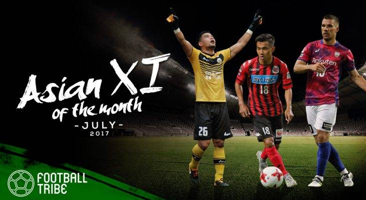 Best XI Asia Juli 2017 Versi Football Tribe