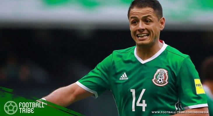 """Aksi Amal Javier """"Chicharito"""" Hernandez untuk Meksiko"""