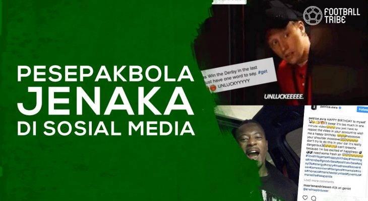 Para Pesepak Bola Jenaka di Sosial Media