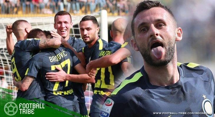 Sepasang Gol Marcelo Brozovic Menangkan Internazionale Milano