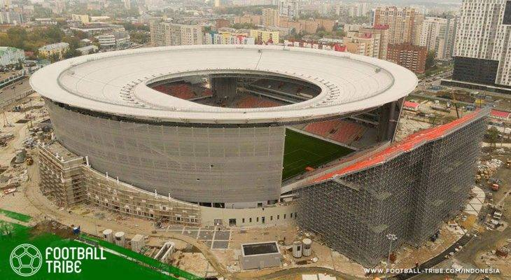 Tribun Eksternal Ekaterinburg Arena: Konyol tapi Unik